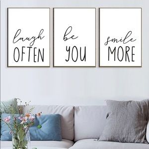 Other - Wall art sayings laugh often be you smile more
